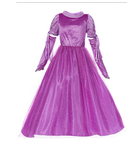 Free shipping princess Rapunzel Halloween sexy M-XL Women Adult  party Costume Cosplay  fancy dress+gloves carnival  Dress
