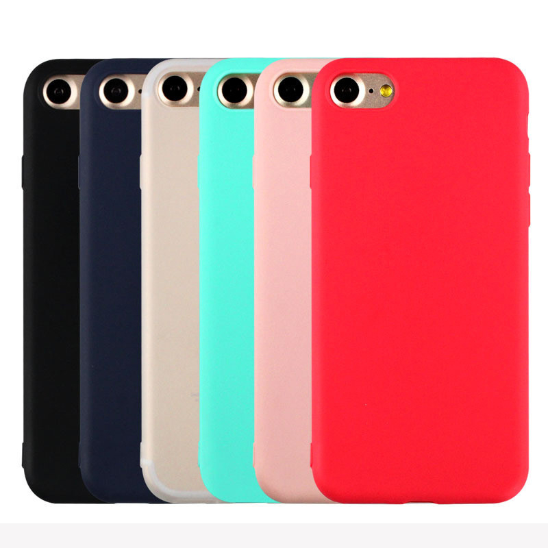 SUYACS Newest For iphone 5 5S SE 6 6S Plus 7 Plus Phone Bags&Cases Soft TPU Sample Candy Color Ultrathin Back Covers Shell Capa ...