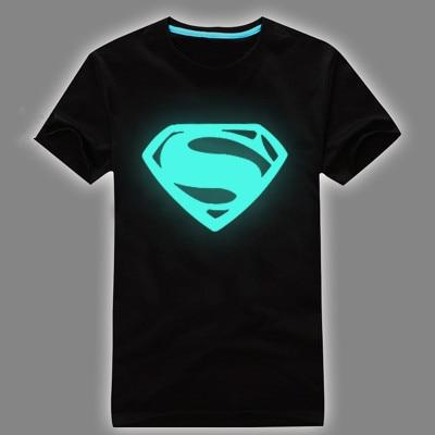 Free Shipping Fashion reflece light t shirt Superman tshirt iron ...