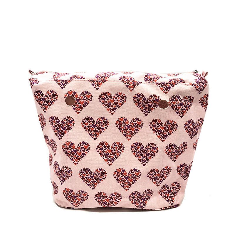 pink heart shape classic standard inner bag oraganize bag for obag fashion pink arrows pattern square shape flax pillowcase without pillow inner
