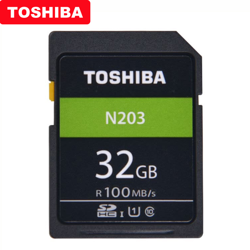 Image 2 - Original TOSHIBA  High Speed Memory SD N203 32G 64G 128G U1 SD Card Support Full HD Shooting for Canon Nikon Digital SLR Camera-in Memory Cards from Computer & Office