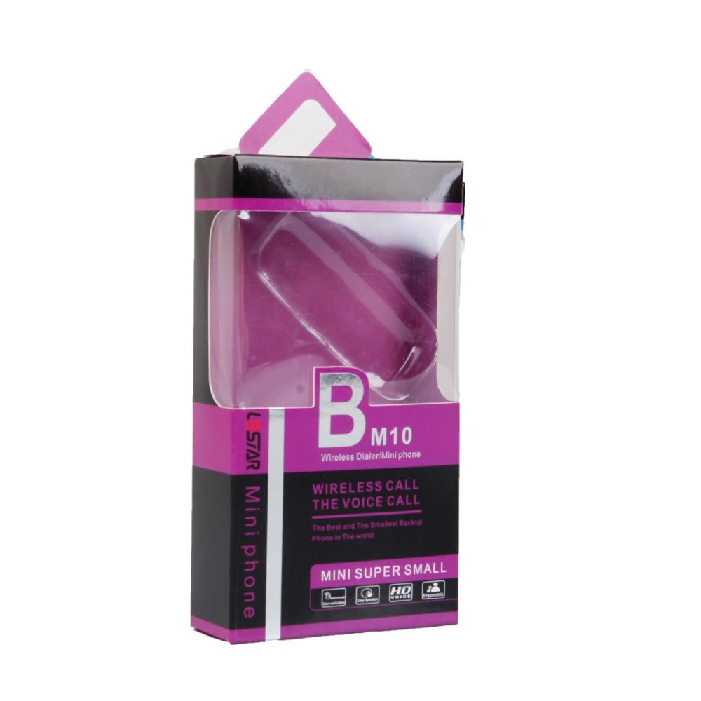 5pcs Mobile phone L8star BM10 Phone shape mini SIM card earphone wireless Hands free calling Answer