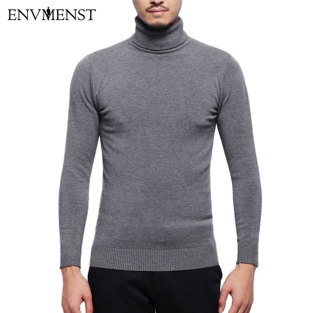 Envmenst 2017 Winter Warm Turtleneck Sweaters Men Solid Long Sleeve Pullovers Men's Slim Fit knitting Jumpers Jersey Hombre 3XL