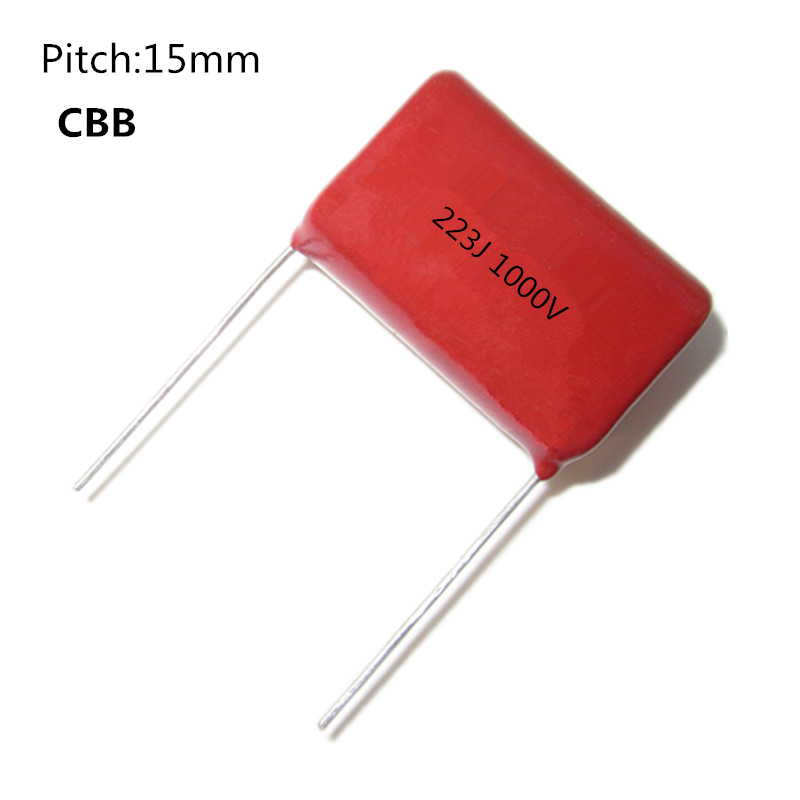 5pcs/lot 22NF 22000PF 223J 1000V P15MM 15MM Pitch DIP CBB Polypropylene Film Capacitor