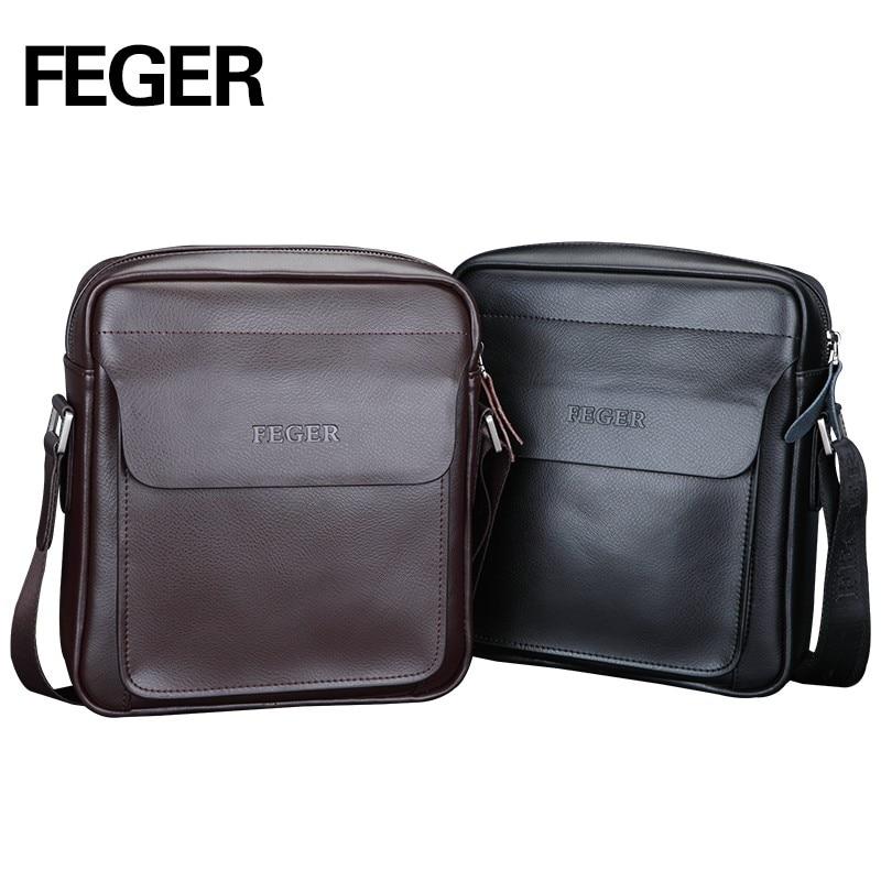 Kangaroo Fashion Mens Leather Crossbody Shoulder Bag Messenger Bag Briefcase