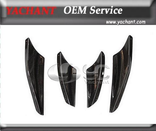 Carbon Fiber VS Style Front Bumper Canards 4pcs Fit For 2008-2010 Mitsubishi Lancer Evolution EVO 10 X