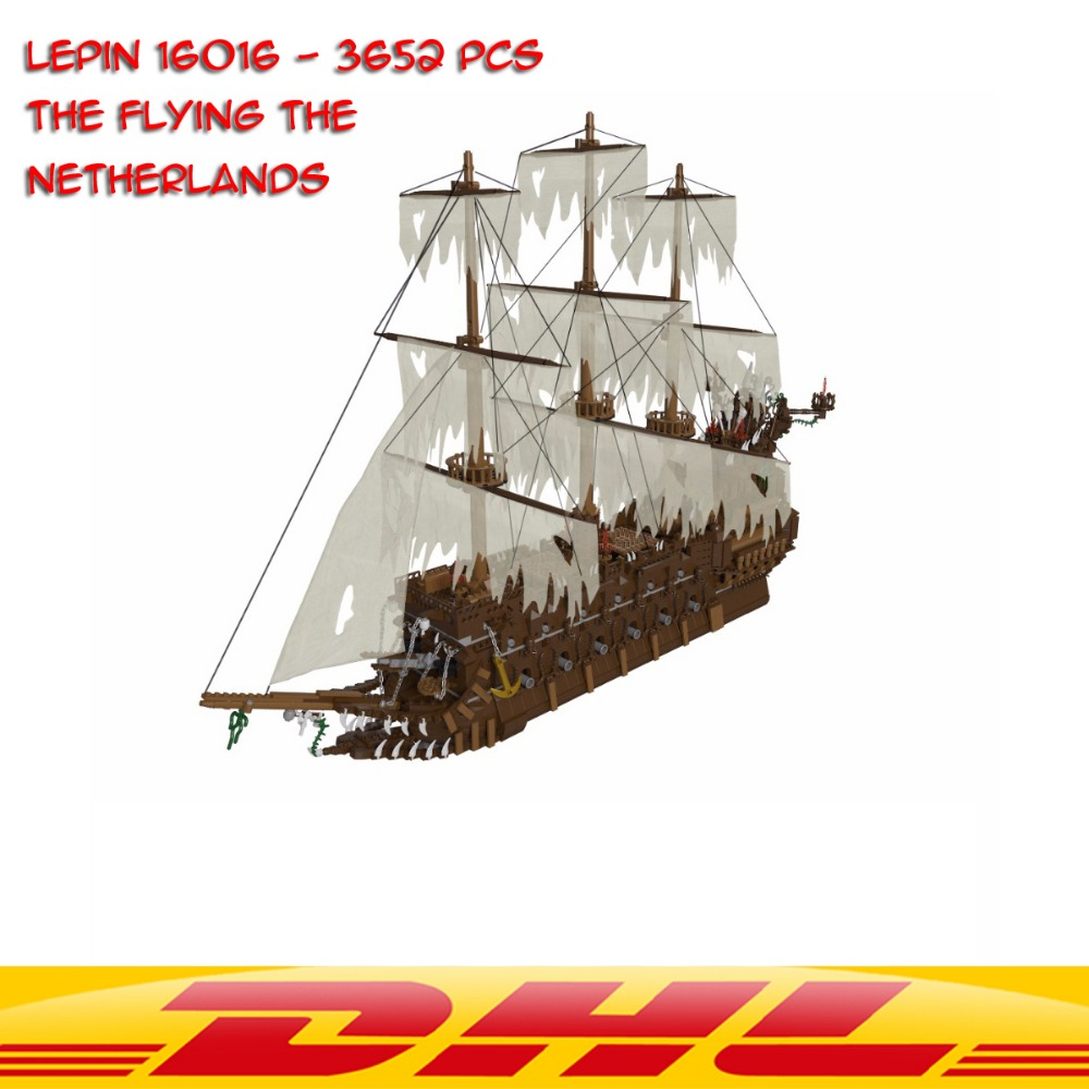 NEW Lepin 16016 3652Pcs Movies Series MOC The Flying the Netherlands Building Blocks Bricks Compatible to Children Gifts lepin 16016 3652pcs movie series flying the dutch blocks bricks toys for children compatible legoing pirates caribbean