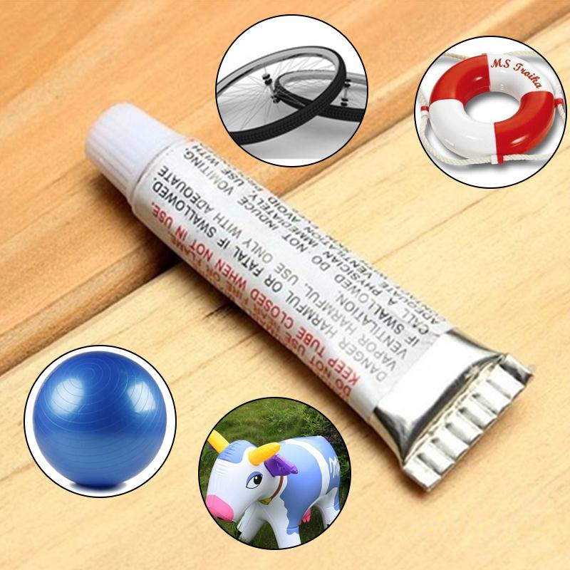 Relefree 5Pcs New PVC Adhesive Inflatable Repair Glue Tube Patch Kit For Toys Boat Swim Ring Pool Yoga ball with 10 patch film