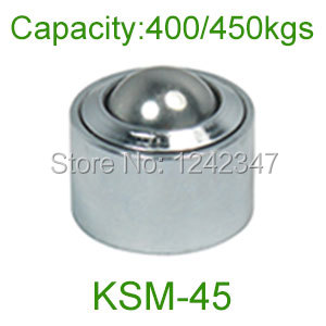 5 pcs 45mm esfera de aço cromo rolamento KSM-45 4000 kg heavy duty Convexo para fora da roda universal unidade de transferência de bola