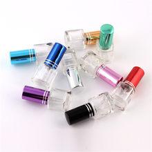 Beleza 9 Cor Vidro 5 ml Recarregáveis Portátil Promoção 10/Lot 4 ml Frasco de Perfume de Vidro, frasco de Perfume de vidro, 4cc Frasco de Perfume