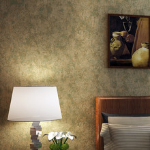 New American vintage nostalgic pure color wall paper non-woven bedroom living room TV background restaurant bar wallpapers