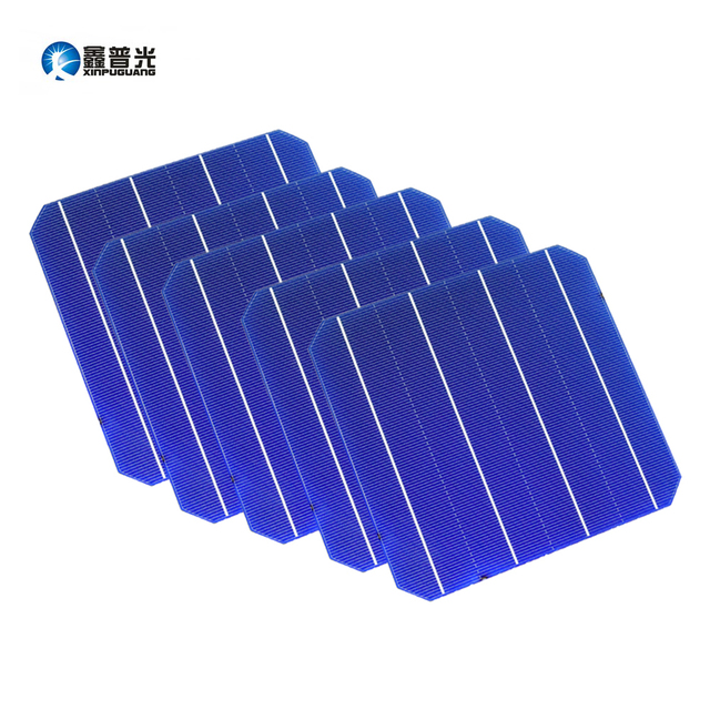 XINPUGUANG 10pcs 4.8w 156*156mm Solar Cell PV Photovoltaic Monocrystalline Silicon DIY Solar Panel Cells 6x6 0.5v Grade A C60
