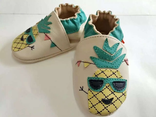 New arrival Genuine leather pineapple style baby moccasins baby boys girls shoes newborn handmade tassel toddler perwalker shoes
