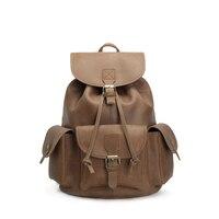Rockcow Винтаж кожа Колледж рюкзак кожаный рюкзак компьютерная школа рюкзак 8891