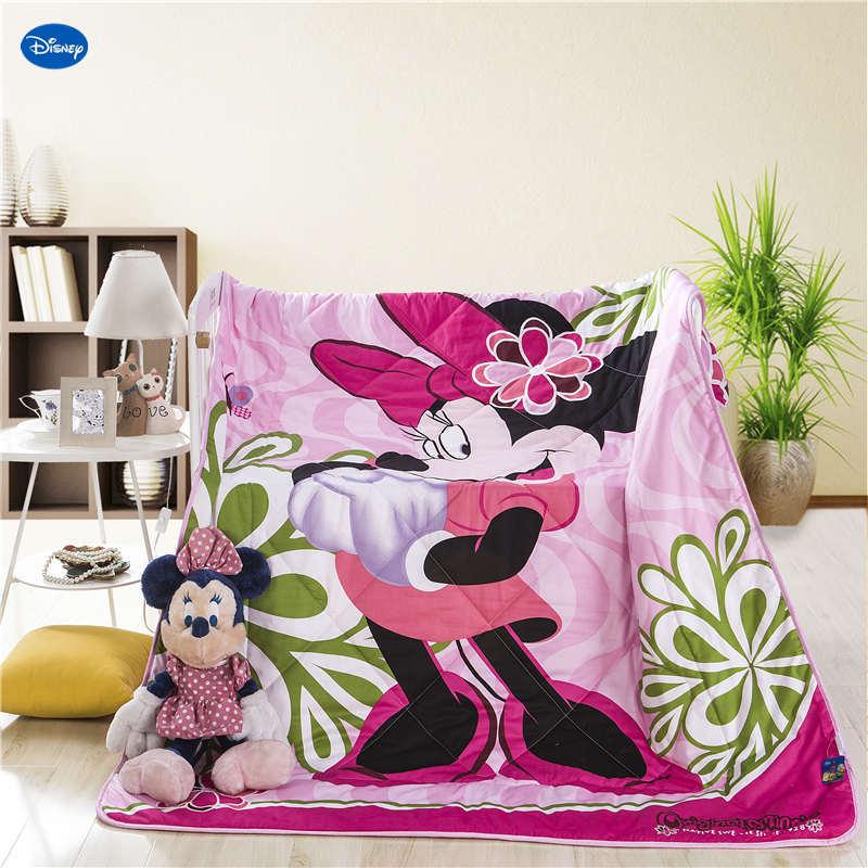 Belle Disney Minnie souris courtepointes été coton tissu couettes literie bébés filles enfants lit couverture couverture bande dessinée maison