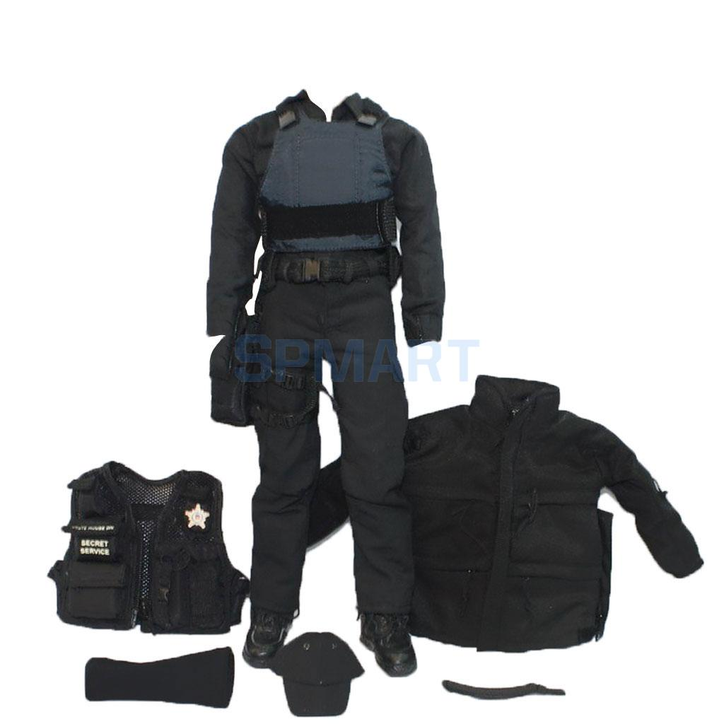 1/6 Scale SWAT Uniform Clothes Military Army Suit Accessories Set for 12 inch Action Figure Dragon BBI Hot Toys Man 2pcs 1 6 scale dragon dml toys wwii gray soldier forward hat cap model toy dolls military fit 12 inch action figure accessories
