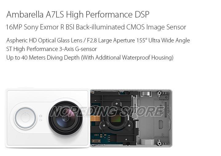 Xiaomi Xiaoyi WiFi Action Camera 16MP 60FPS Ambarella 184850 11