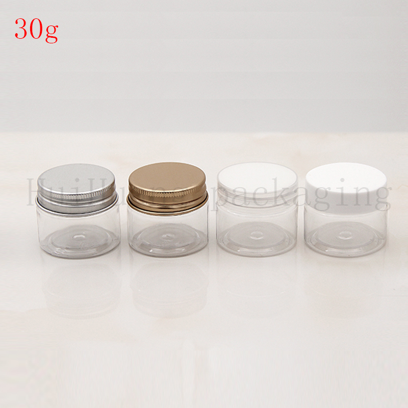 30g empty clear cosmetic jar containers for cream packaging cream jars tin cosmetic packaging jars for