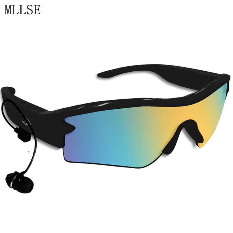 MLLSE Polarized Sunglasses Headphones Bluetooth Headphone/Headset Outdoor Glasses Stereo Bluetooth Earphone for Samsung Xiaomi bluetooth wireless sunglasses w earphone polarized glasses for iphone samsung android ios smartphones black a pair of earphones