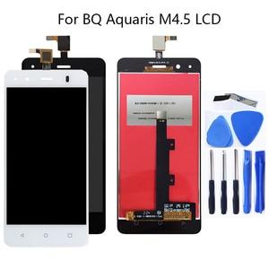Image 1 - 4,5 zoll Für BQ Aquaris M 4,5 LCD Display Touch Screen Montage Zubehör Glas panel Für Aquaris M 4,5 touch Panel Reparatur kit