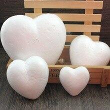 Пенополистирол пенопластовый шар белого цвета в форме сердца для рукоделия Рождественские украшения подарки