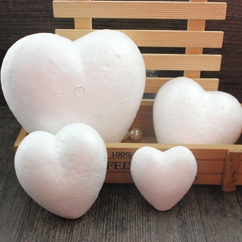 Пенополистирол пенопласт пены мяч белый ремесло в форме сердца для DIY рождественской вечеринки украшения поставки подарки