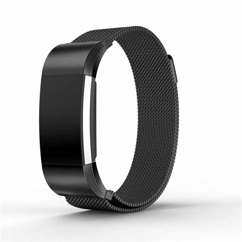 Металлический ремешок из нержавеющей стали, для браслета Fitbit Charge 2, Миланская петля, магнитный Fitbit Charge, 3 ремешка, умный Браслет для наручных часов