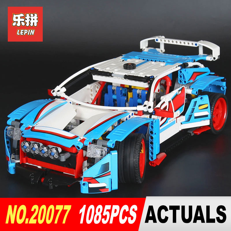 Lepin 20077 Genuine 1085Pcs Technic Series The Rally Car Set 42077 Building Blocks Bricks Educational Funny Toys Model Gifts lepin 20077 genuine technic series the rally car set 42077 building blocks bricks educational funny toys as children gifts