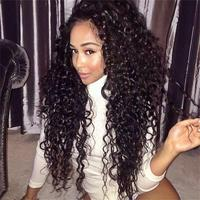 Short Afro Curly Glueless Full Lace Wigs 130% Kinky Curly Wigs Best 100% Human Hair Brazilian Virgin Hair Wigs With Silk Top