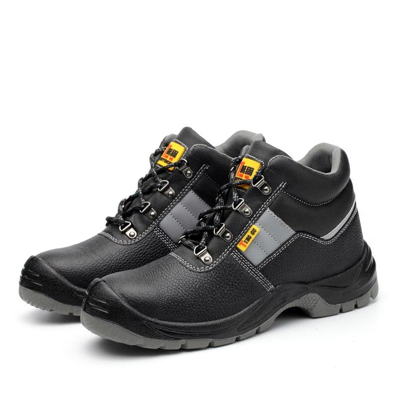 Atemschutzmaske Ac13005 Stahl Kappe Arbeit Schuhe Arbeits Schuhe Industrie Bau Hohe Qualität Schuhe Punktion Beweis Sicherheit Schutz Schuhe SchöNe Lustre Sicherheit & Schutz