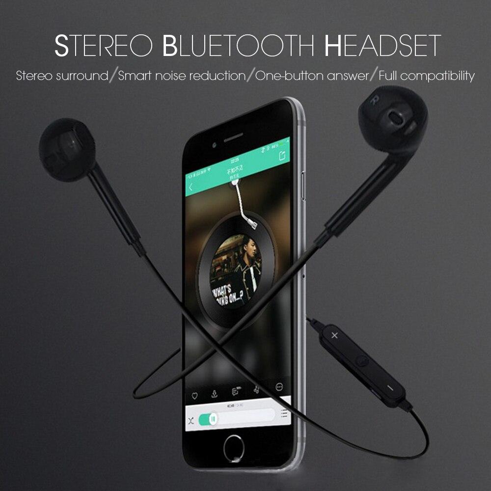 New S6 Bluetooth Earphone Wireless Sport Running Bluetooth Headset Waterproof Stereo Bass Earbuds With Micphone bluetooth headphones original jabees bsport bt4 0 headset wireless waterproof earphone earbuds audifonos for running biking