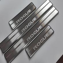 자동차 스타일링 액세서리 닛산 로그 T32 스테인레스 도어 씰 트림 커버 스커프 플레이트 가드 도어 씰 프로텍터 자동 스티커