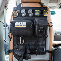 OneTigris Tactical Molle Car Seat Organizer Seat Back Multipurpose Car Seat EDC Holder Panel Cover Protector Fits For All Cars