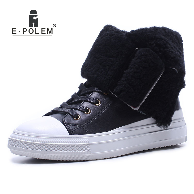 2018 New Winter Low Upper Leather Snow Boots Female Flat Bottomed Zipper Round Metal Light Weight Non-Slip Tide Women's Booties round flat bottomed sweet bowknot short boots