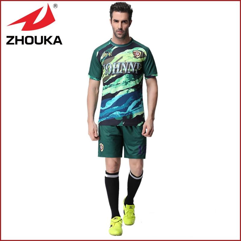 HOT! 2016 MENS Soccer Jersey football uniform Thai quality home away