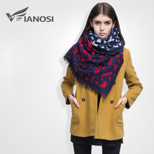 [VIANOSI] Famous Brand Winter Scarf Women Diamond Printed Cashmere Female Thicken Warm Soft Shawls Mujer DS012