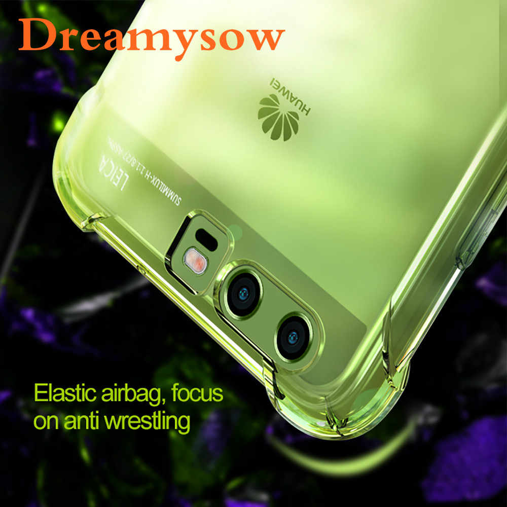 Shockproof Clear Airbag Soft TPU Case For Huawei P20 Pro P10 Lite Case P10 P9 Plus P8 Lite 2017 2016 For Mate 10 10 Pro Cover