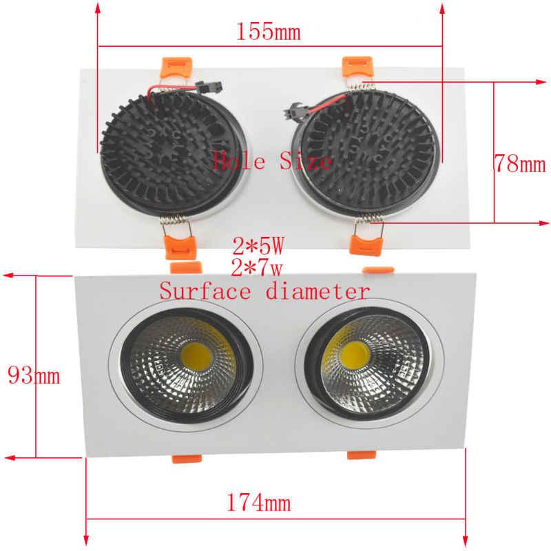 Lamparas светодиодный светильник techo, плафон с регулируемой яркостью COB 3 Вт 5 Вт 7 Вт Светодиодный точечный светильник, светодиодный светильник 110 В 220 в 90-260 В