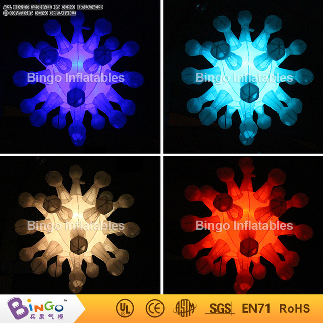 Multicolors inflatable Snow Flower for Christmas Decoration 1.5m BG-A0698 flashing toy