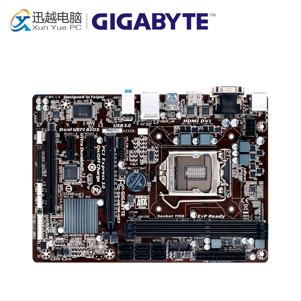 все цены на Gigabyte GA-H87M-HD3 Desktop Motherboard H87M-HD3 H87 LGA 1150 i3 i5 i7 DDR3 16G SATA3 Micro-ATX онлайн
