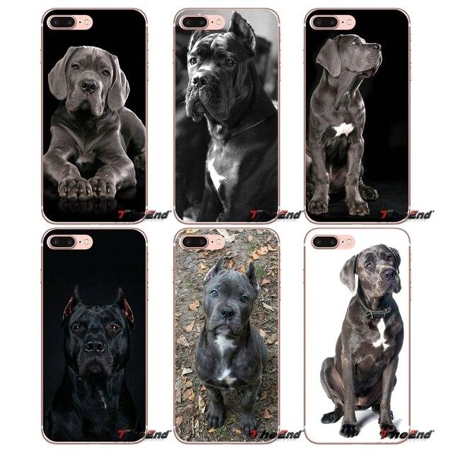 Italian dogs Cane Corso mastiff Soft Cover For Sony Xperia Z Z1 Z2 Z3 Z5 compact M2 M4 M5 E3 T3 XA Aqua LG G4 G5 G3 G2 Mini Capa