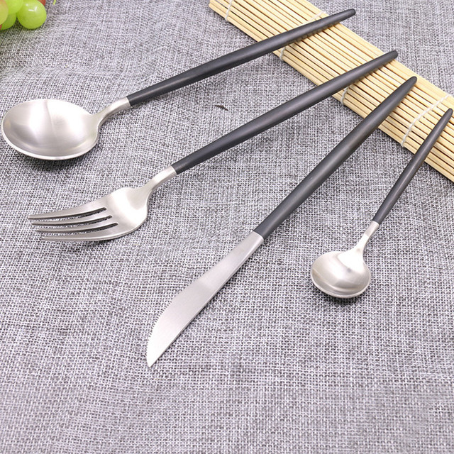 Portugal Style 304 Stainless Steel Cutlery Set Silver And Gold Fork Knife Gracile Dinnerware Set Hotel  sc 1 st  AliExpress.com & Portugal Style 304 Stainless Steel Cutlery Set Silver And Gold Fork ...