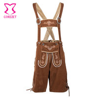 Mens Oktoberfest Suspenders Lederhosen Cosplay German Bavarian Beer Costume Carnival Halloween Costumes Deguisement Adulte