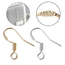 10Pcs 925 Silver Plated DIY Earring Hooks Ear Wire Anti Allergy Jewelry Findings