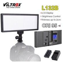 Viltrox L132B Caméra LED Lumière Ultra Mince Écran lcd Dimmable Studio Lampe Panneau Batterie & Chargeur pour DSLR Caméra DV caméscope