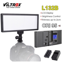 Viltrox L132B Camera LED Light Ultra Thin LCD Display Dimmable Studio Lamp Panel Battery & Charger for DSLR Camera DV Camcorder