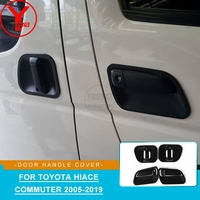YCSUNZ abs Matte black side door handle protector parts accessories for Toyota Hiace Commuter 2005 2018 2008 2009 2010 2012 2014