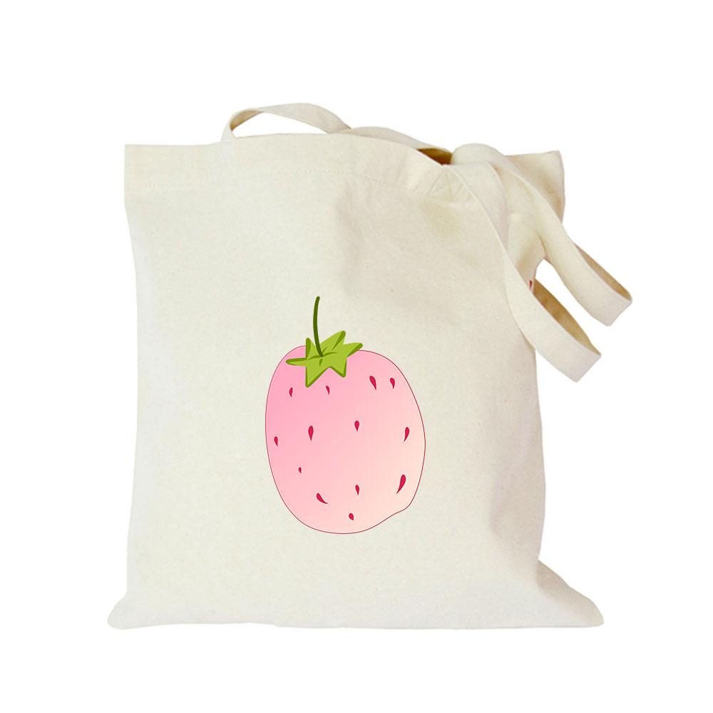 Origina kawaii canvas strawberry custom tote bag customize eco diy logo shopping bag with logo Dachshund Shepherd Dog Poodle (4)