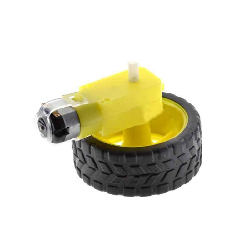 Mini Smart Car Robot Plastic Tire Wheel with DC 3-6v Gear Motor For Arduino  Best