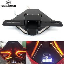 Für DUCATI 899 959 1199 1299 Panigale Motorrad Hinten Schwanz Licht Brems Blinker Integrierte LED Lichter Lizenz Halterung